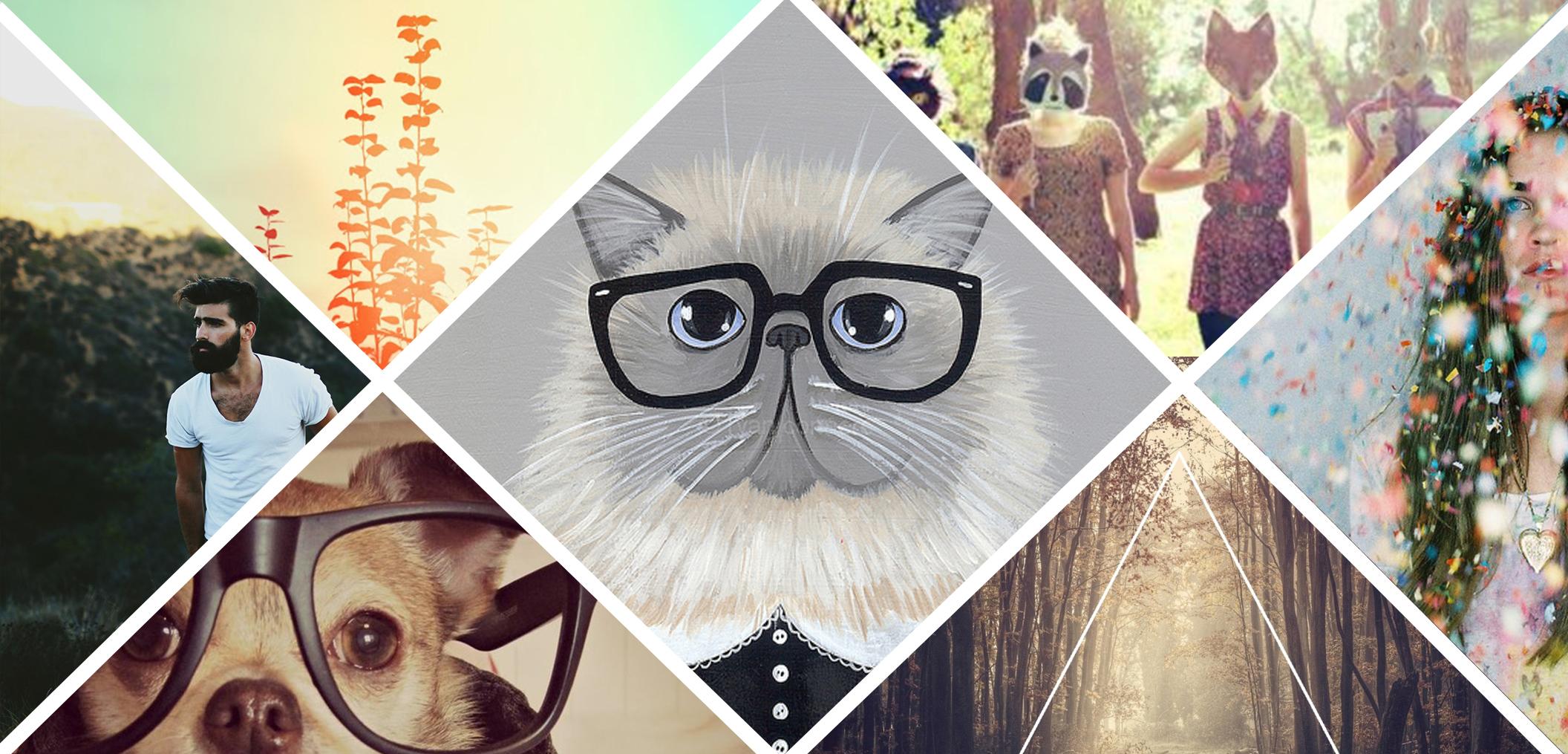 hipster design trend socialee media